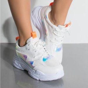 Cape Robbin White Siren Diva Chunky Sneaker